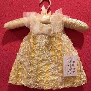 Flower rosette baby girl dress